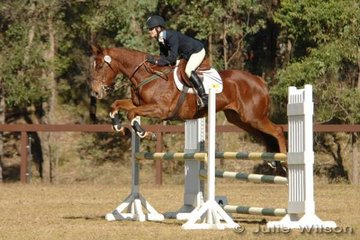 Tasha Hammond rode Prince Bailey in the showjumping of the Preliminary Division 2.