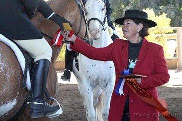 2007 Queensland Appaloosa State Show dressage judge, Di Noakes.