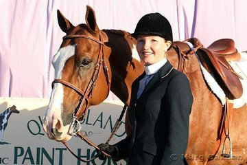 Junior Youth competitor at the Queensland Paint Horse State Championships was Lisa Gant with her gelding, Fire Delight.
