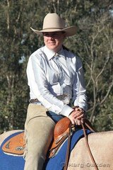 Longtime Paint Horse owner & competitor, Bridget Connelly, awaits her turn in the Senior Horse Trail class at the 2007 SEQPHC Paint-O-Rama.