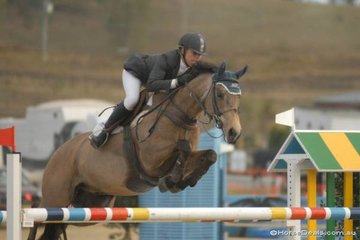 Paula Hamood with her wonderful 'Bucks Bunny' as always jumping a lovely fence, during the final Silver Series Qualifier.