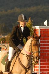 This one's not for sale. Despite Julia Hargreaves' obvious delight with showjumper, 'Ginger Meggs', owner Monique Barrett will not part with the diminutive showjumper.