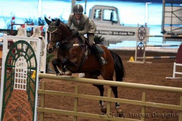 Diamonds & Pearls ridden by Cassie Honor were 5th place in the Young Riders 1.25m with one rail down and a time of 30.55 seconds