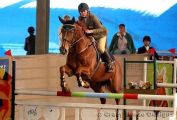 Luxor & Renee Gimson were awared equal 6th place in the 1.25m Young Riders class