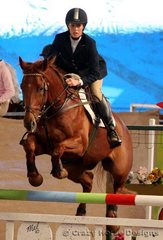 Balmoral High Road & Cloe Hughes were equal 6th place in the 1.25m Young Riders class