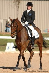 Katja Wiemann rode Tomahawk Tom to be equal third after the dressage phase of the Pre-Novice B.