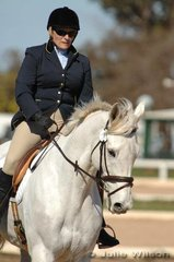 Lee McFarlane rode Just Paddy to score 49.8 in the dressage phase of the Pre-Novice A.