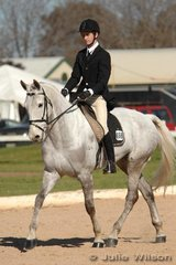 Campbell Baxter and ESB Irish Nonsence finished mid field after the dressage phase of the CNC*.