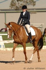 Jenny Peck and Helium were another combination to be placed mid field after the dressage phase of the Pre-Novice B.