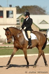 Linda William and Trivial had to make the descision to go or stay after their CNC* dressage test. In the afternoon it was announced that people could leave the venue before 12am with a vet certificate, but then their horse would need to be quarantined for 2 weeks. The other option was for the horse to stay at Werribee for 72 hours (until Tuesday). At this stage no vet certificate or quarantined period was needed if the riders took this option.