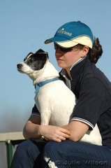Dogs back at Werribee! In June the rules regarding dogs at Werribee Park have be relaxed and it is hoped that dog owners will be responsible and the dogs, which are such a big part of the horse scene can stay. Here Emily Hodgson and Sheba keep their eyes on the dressage.