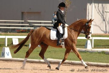 Samantha Whiting rode the impressive Sovereign Rose to fourth place after the dressage phase of the CNC*.