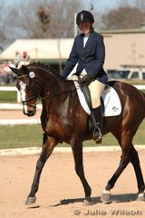 Michelle Buckley and Pahai Lord Montague were placed mid field of the Pre-Novice A after the dressage.