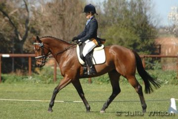 Raquel Corbett and Evamoor Symbolic held onto ninth place after the dressage phase of the Preliminary C.
