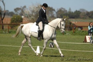 Angela Bence and Yarraman Park Tahli were placed ninth after the dressage phase of the Preliminary B.