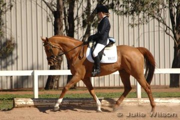 Olivia Townshend and Carramar Marmaduke were placed ninth after the dressage phase of the Pre-Novice B.