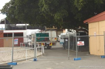 Usually a busy thoroughfare the stabling area blocked off to the general public.