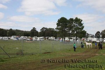 The camping area was full of horse floats, motorhomes and caravans, which would become a height of activity prior to the midnight start of the ride