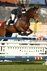 Alexandra Massie rode Back on Show to a four fault round in the Young Rider AM5.