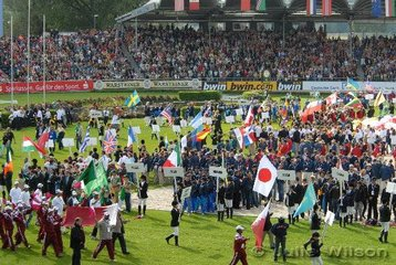The Teams gather in the Main Arena.