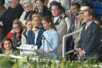 """The new FEI President, HRH Princess Haya Bint Al Hussein made a moving opening speech which included; """"The FEI World Equestrian Games is like no other Championships in the horse world, here we bring together all of our disciplines...ultimately it is the horse that brings us together. The horse who has no understanding of borders, political differences, class or languages, cements us in the simple common bond of friendship and unity""""."""