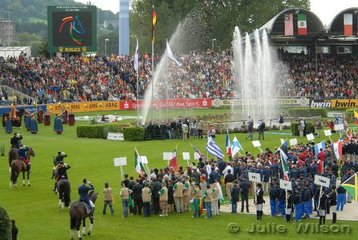More action during the opening ceremony.