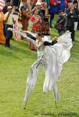 We are not sure what the stilt walkers were all about, but they were an impressive part of the opening ceremony.