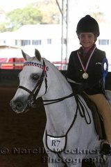 Winner of the Rider 6 & Under 8 Years class Taylor McDonald-Smith