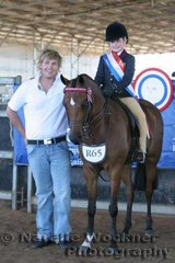 Sabrina Durante rode beautifully once again to win Champion  Rider 6 Years & Under 12 Years pictured with Sponsor of the class Aaron Woolard