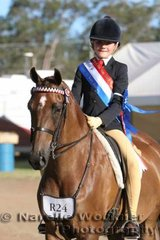Beau Cunning rode in great style to win the Champion Rider 12 Years & Under 15 Years
