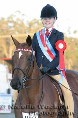 Martina Hewitt won Reserve Rider 15 Years & Under 17 Years