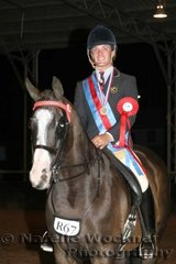 Reserve Adult Rider went to Adam Oliver who had been kept very busy showing during the day
