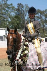 Ashley Harris & 'McArthurparc Mystic' successfully won Champion  Large Show Hunter Pony Of The Year, Champion Owner Rider Large Show Hunter Pony Of The Year & Champion Australian Saddle Pony Award