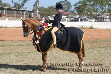 Champion Small Pony Of The Year 'Langtree Odyssey' ridden by Sabrina Durante