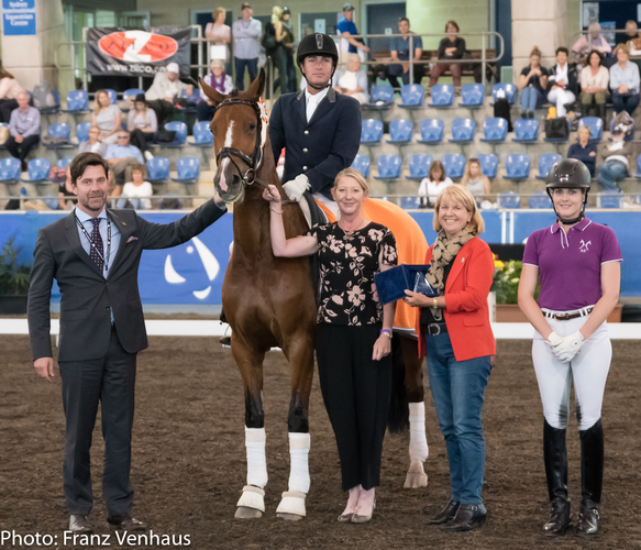 Danish FEI 5* judge Hans-Christian Matthiesen (left) at the Young Horse final of the 2016 Sydney CDI. PICTURE: Franz Venhaus.