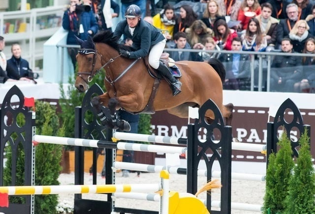 Jamie Kermond and Yandoo Oaks Constellation at the Saut Hermes - Grand Prix Hermès, Paris (FRA) last Sunday (18 March). The pair will fly the Australian flag at the Longines FEI World Cup™ Jumping Final 2018 which kicks off at the AccorHotels Arena in Paris on 11 April. (FEI/Equestrian Australia/Thomas Reiner)