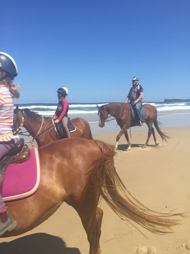 Beach ride with the kids