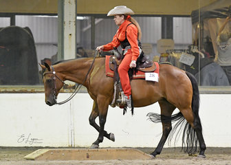 Cheryl carter  pintoy and pj charary blazing glory in the all age ranch riding.
