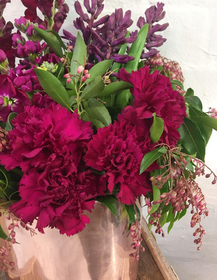 Rustic Red Flowers - Montmartre