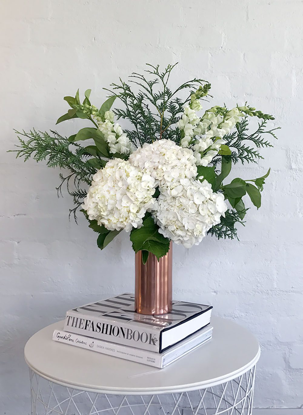 White Hydrangeas Contemporary