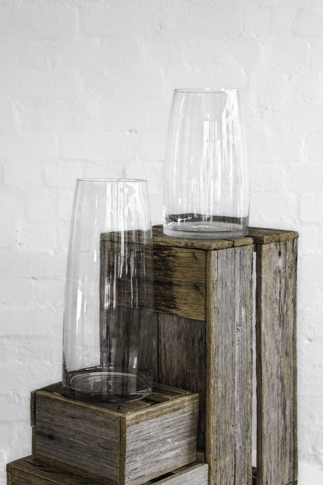 Glass Cylinder Vases - Tall and Short
