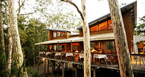 The Gunyah Restaurant at Paper Bark Camp