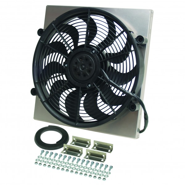 RAD fan Single H.O with an injection molded shroud Derale 16926