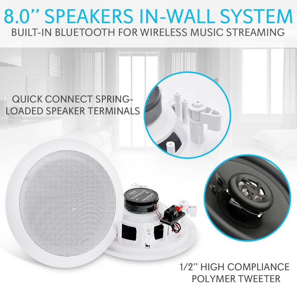 Pyle Pdicbt852rd 8 Inch 250w Bluetooth Ceiling Wall