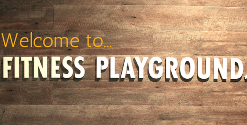 Health/wellbeing feature imagesign for fitness playground