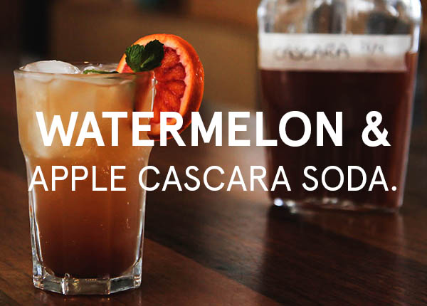 Watermelon and Apple Cascara Soda