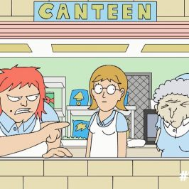 Here's Michael Cusack's newest animation: Canteen Ladies