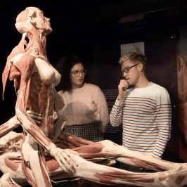 Russell Howard and Rose Matafeo Visit a Dead Bodies Art Exhibit