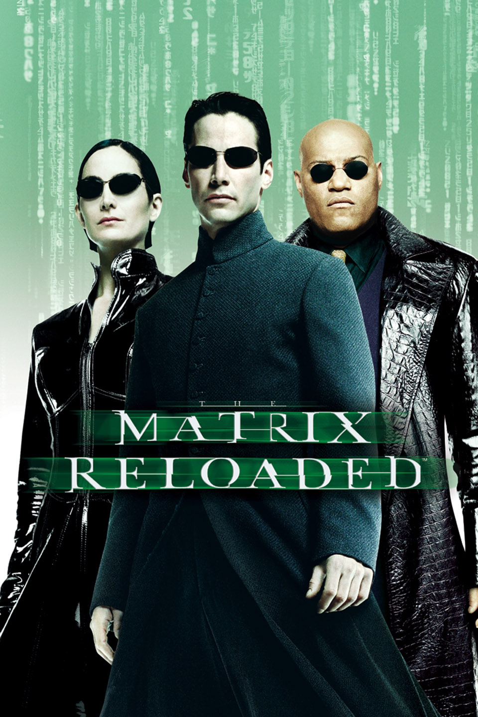 Trinity, Neo, and Morpheus in a promo image for The Matrix Reloaded (2003)