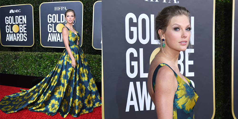 taylor swift floral dress golden globes